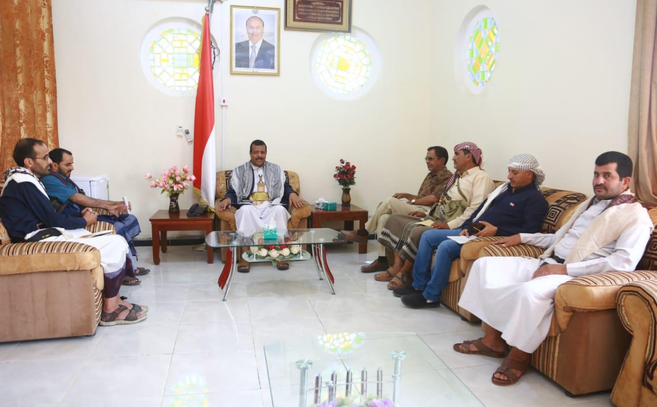 مأرب تناقش اعادة تطبيع الاوضاع في مديرية رحبة  بعد تحريريها من قبضة مليشيا الحوثي