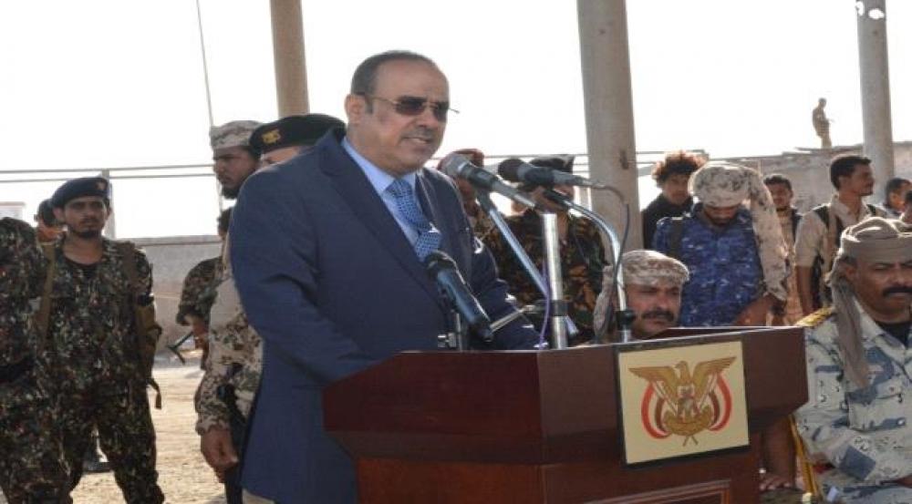خلال حفل عسكري جنوب اليمن وبحضور وزير الداخلية ..طائرة مسيرة حامت في المكان وكيف تم التعامل معها ؟
