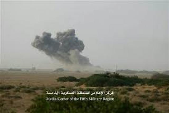 في هذه المحافظة إحراق أطقم عسكرية بمن عليها من المقاتلين..و تدمير مخزن أسلحة للحوثيين!