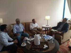 عدن : محافظ تـعـز يلتقي مدير الأمن الإقتصادي في اللجنة الدولية للصليب الأحمر وكذلك مدير مكتب الأوتشا