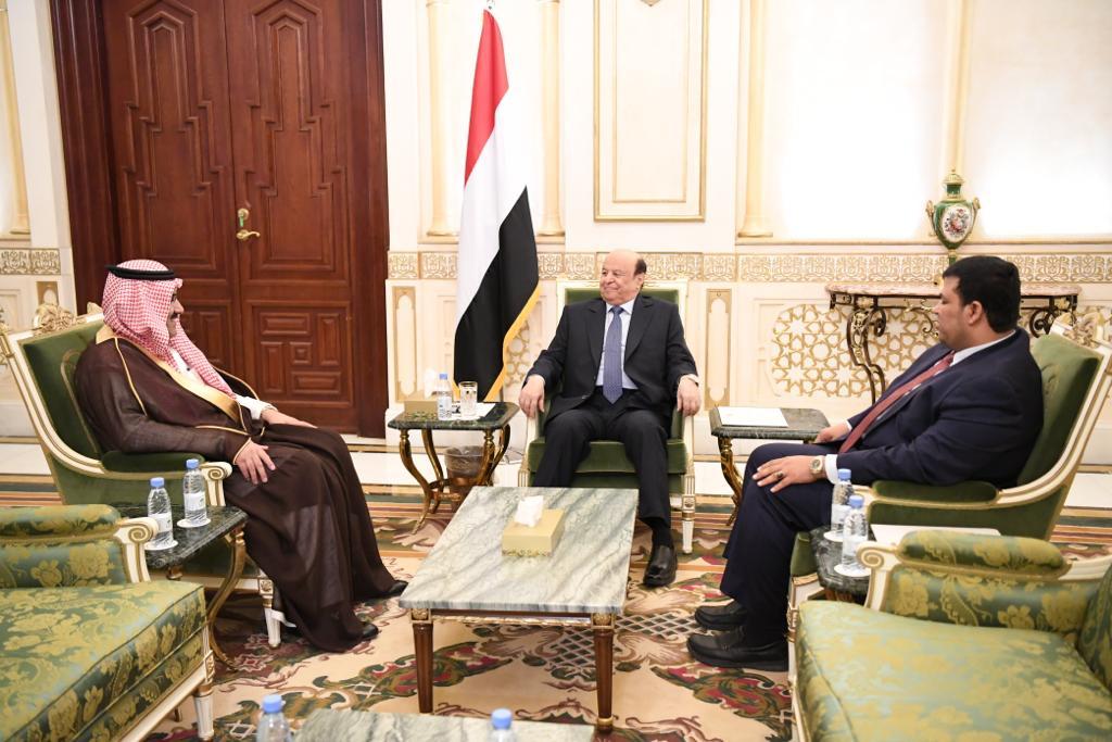 رئيس الجمهورية يستقبل السفير السعودي لدى اليمن