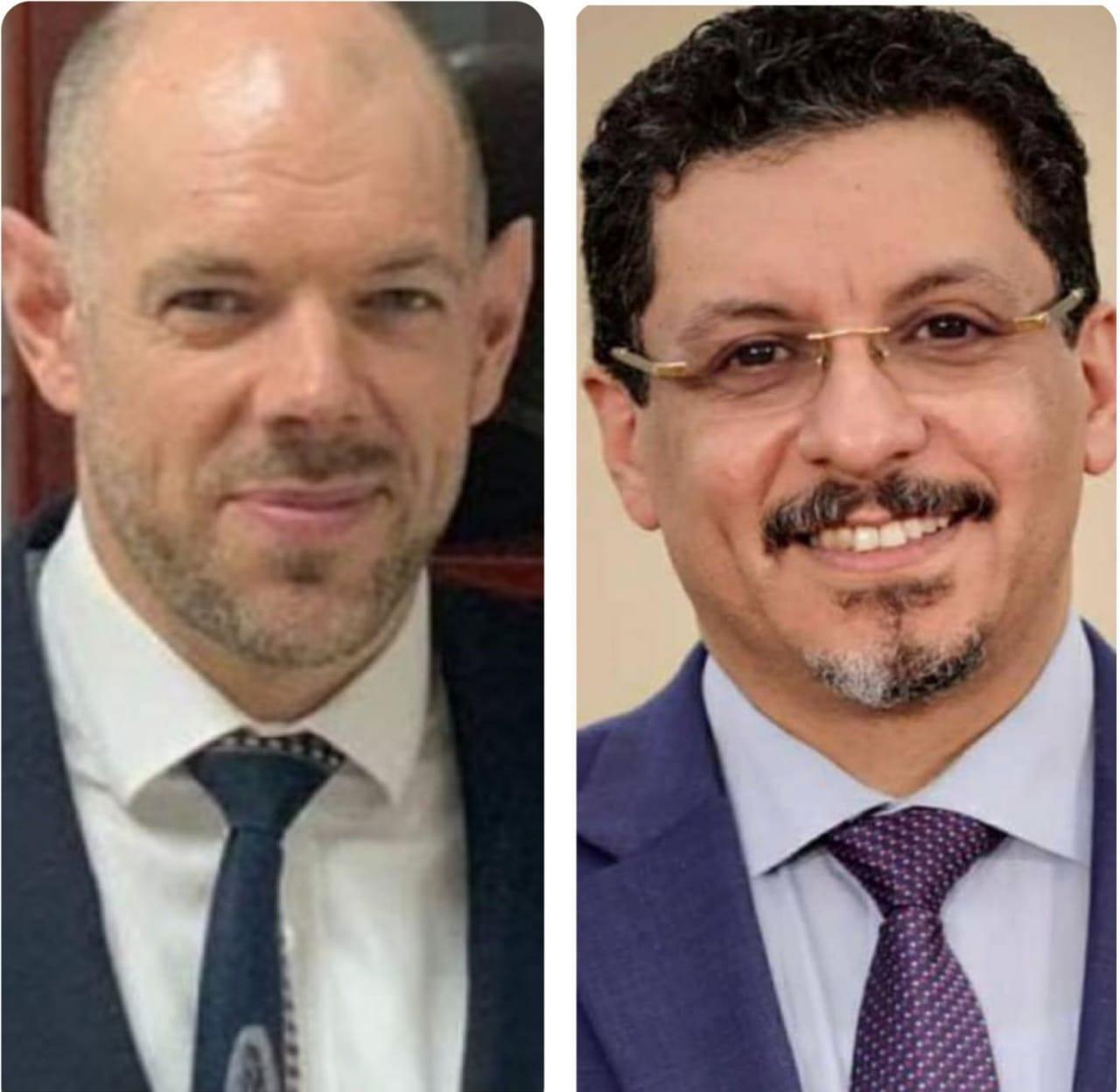 وزير الخارجية يناقش مع سفير بريطانيا تطورات الأوضاع في اليمن