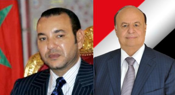 الرئيس هادي يهنئ ملك المغرب بعيد العرش